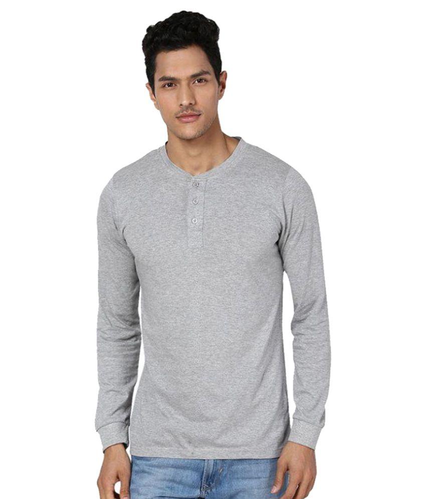 Unisopent Designs Grey Henley T Shirt Buy Unisopent