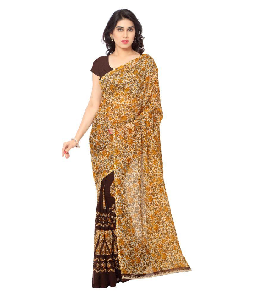 Desi Look Multicoloured Chiffon Saree