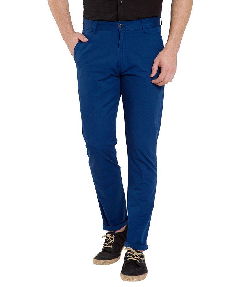 Highlander Blue Slim Chinos Trouser