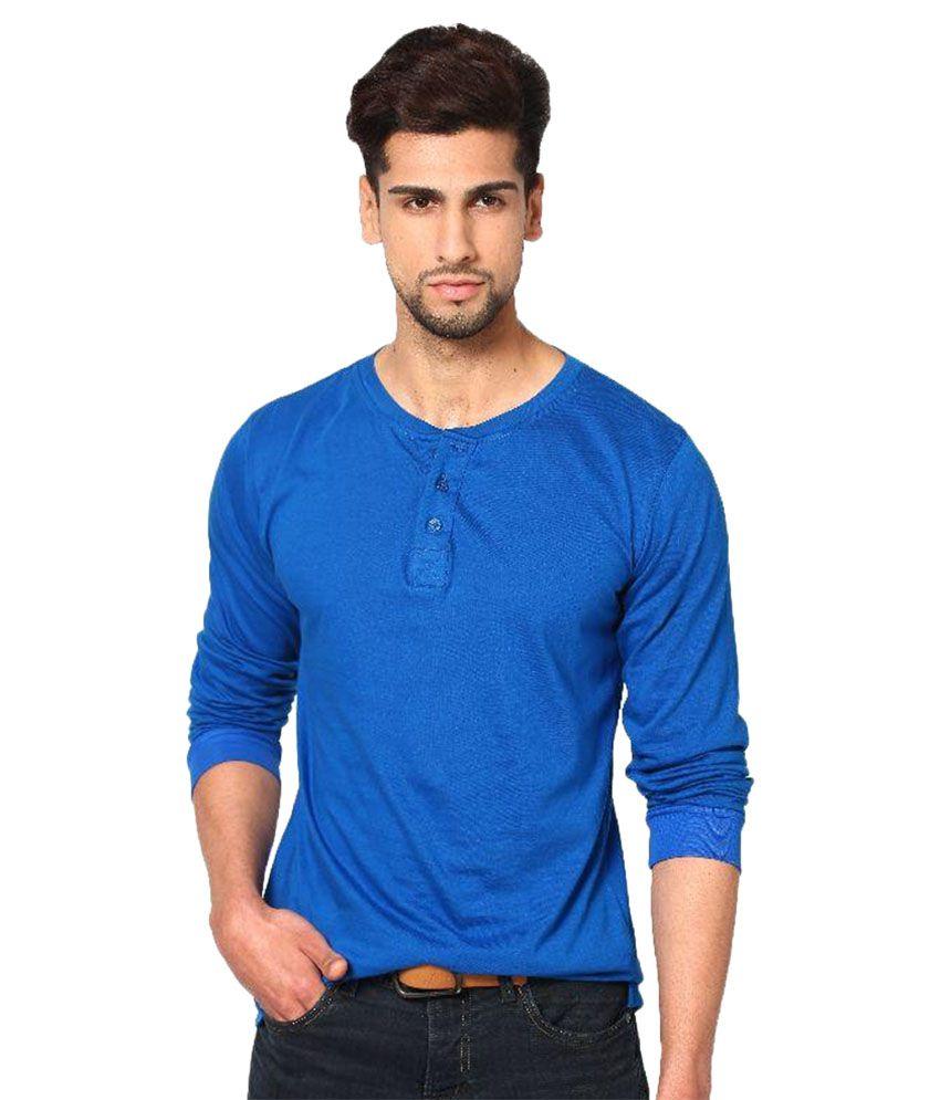 Unisopent Designs Blue Henley T Shirt