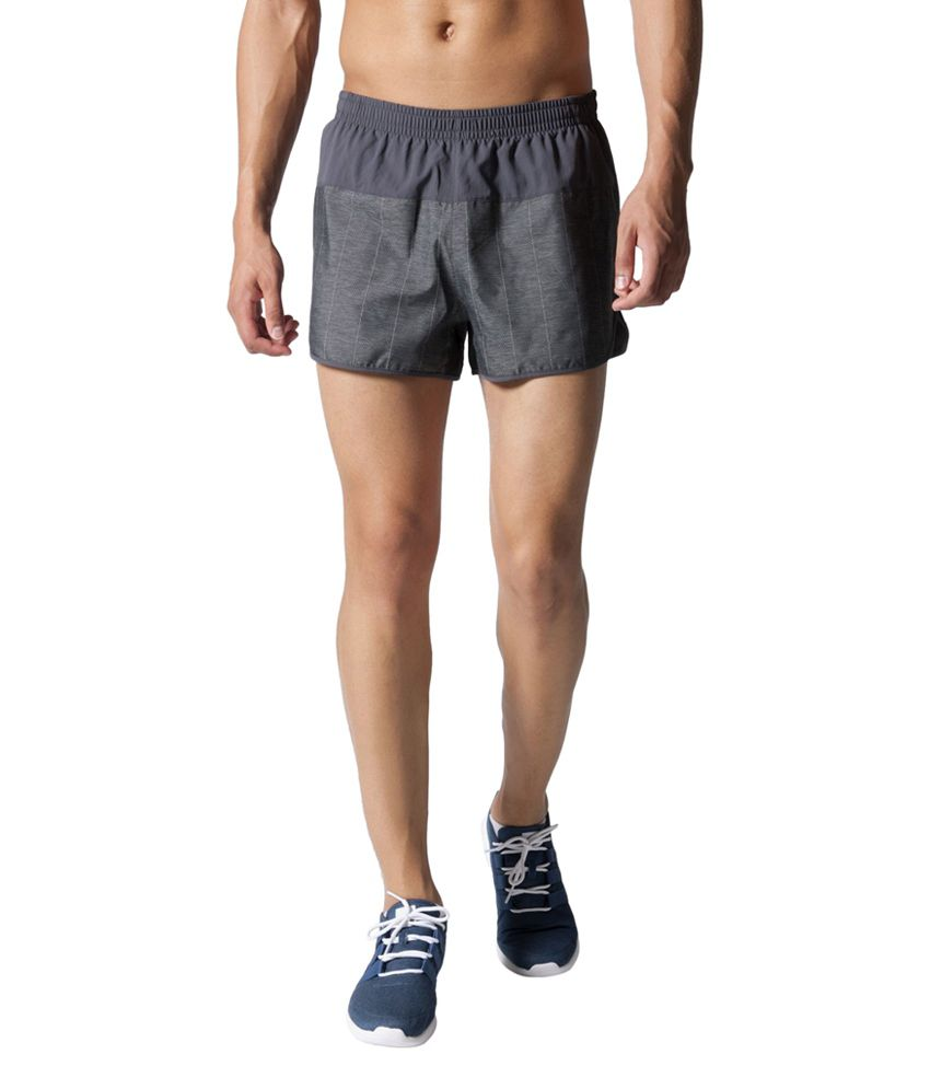Adidas Black Men's Supernova Split Shorts