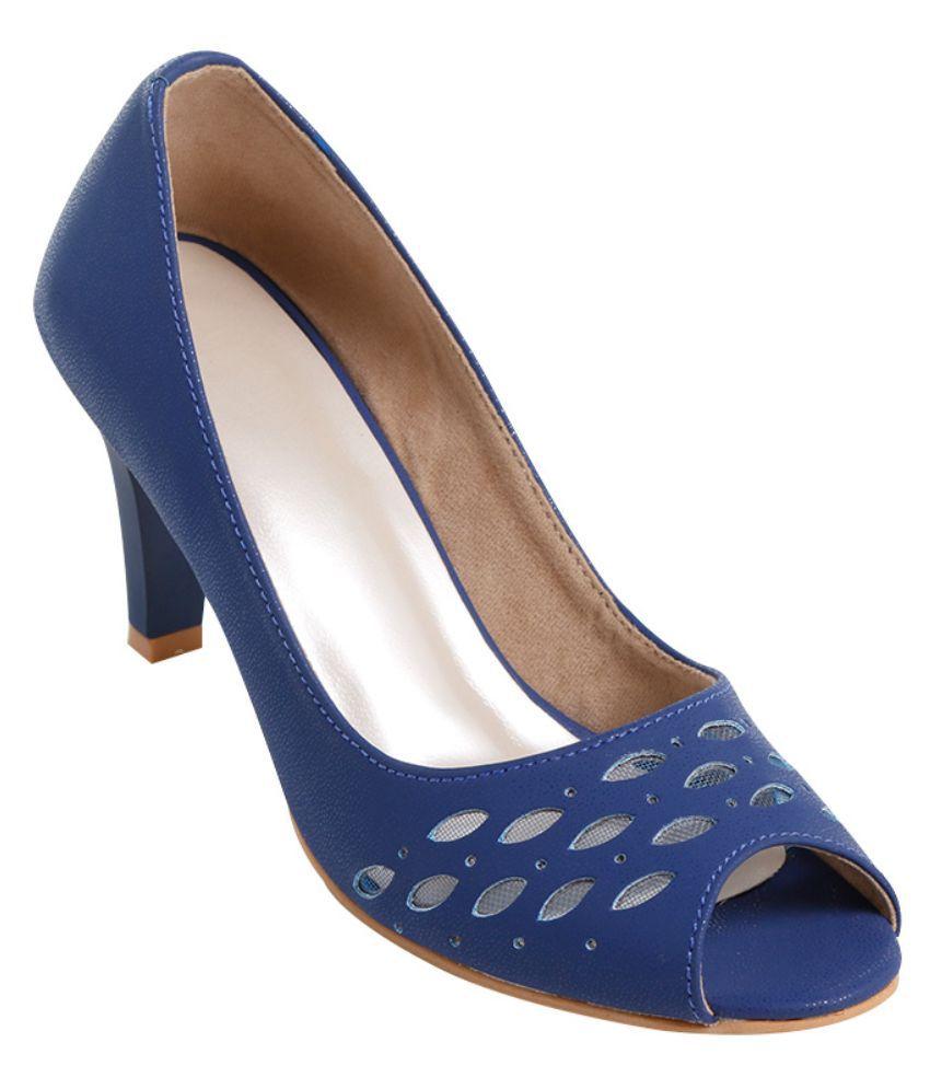 Glitzy Galz Blue Stiletto Heels
