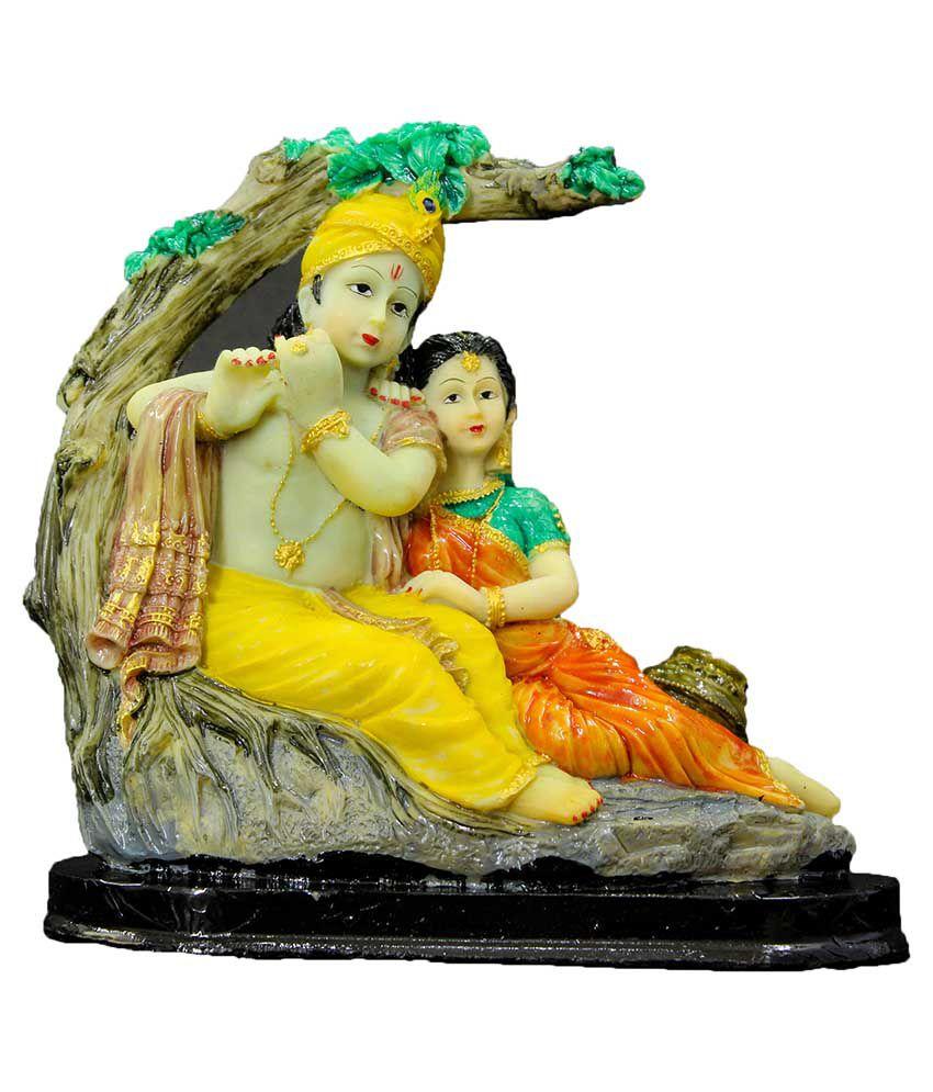 The Holy Mart Radha Krishan Polyresin Idol