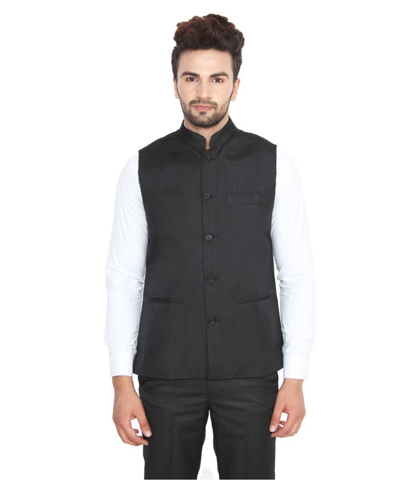 Jainish Black Party Waistcoats