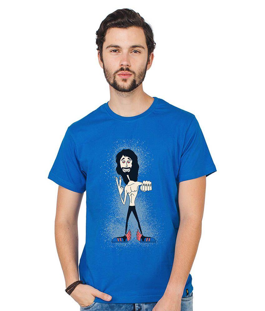 Bewakoof Blue Round T-Shirt