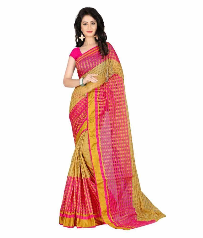 Harsh Fashions Multicoloured Cotton Silk Saree
