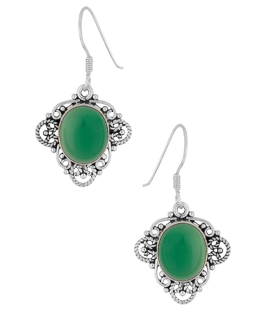 Voylla 92.5 BIS Hallmarked Silver Amber Hangings