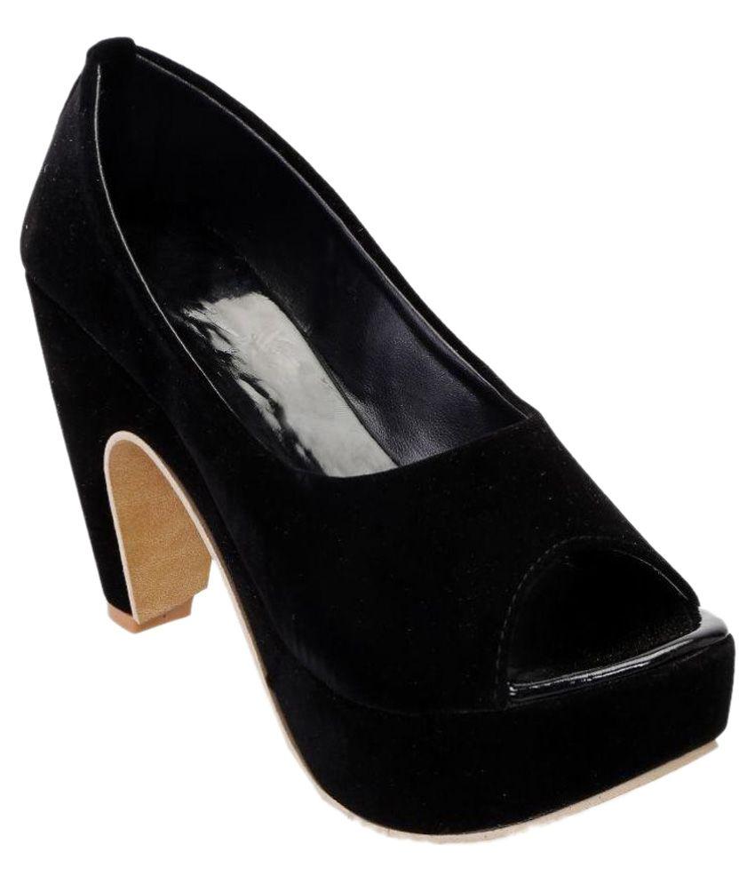 Catbird Black Block Heels
