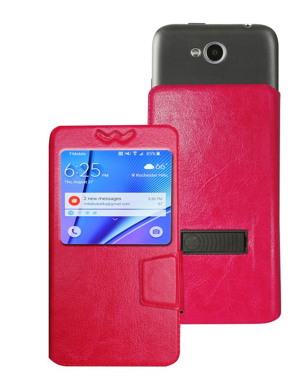HTC One M9e Flip Cover by Corcepts - Pink