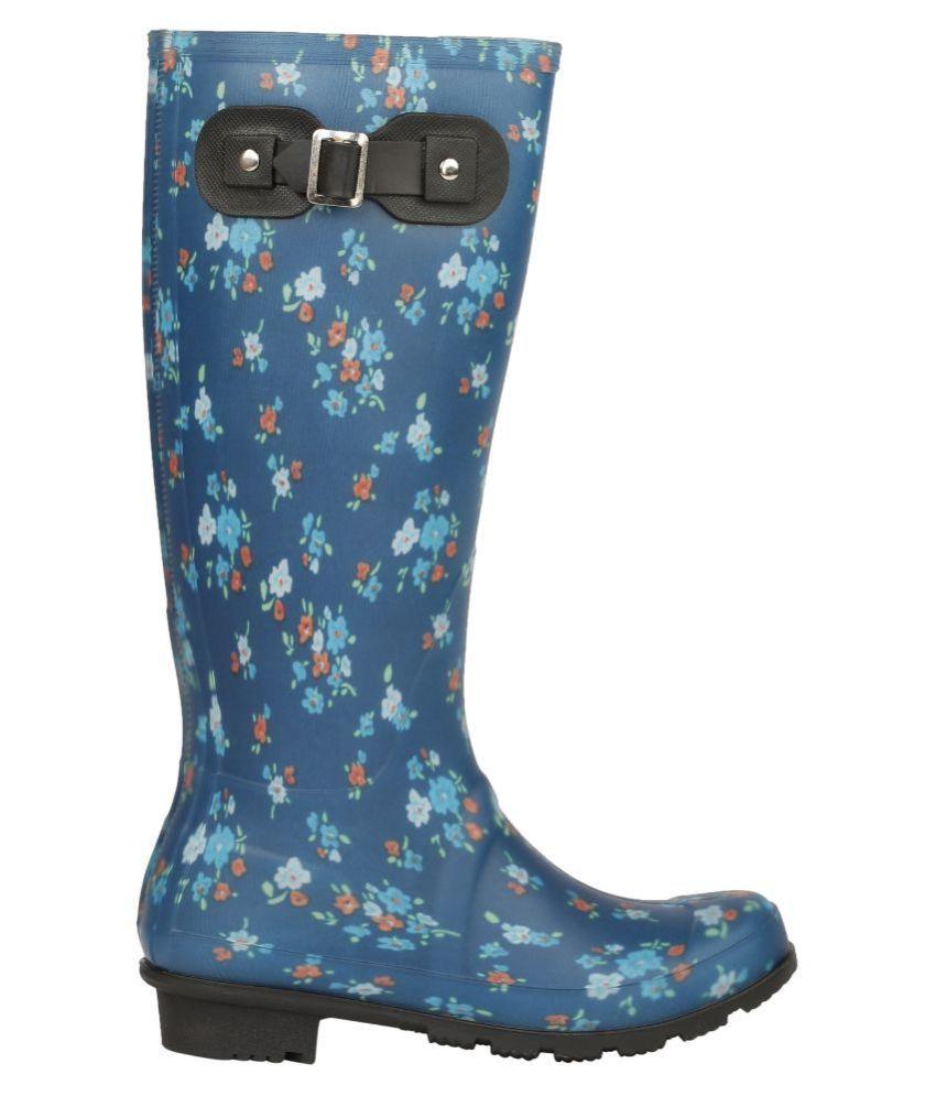 Delberto Blue Mid Calf Boots