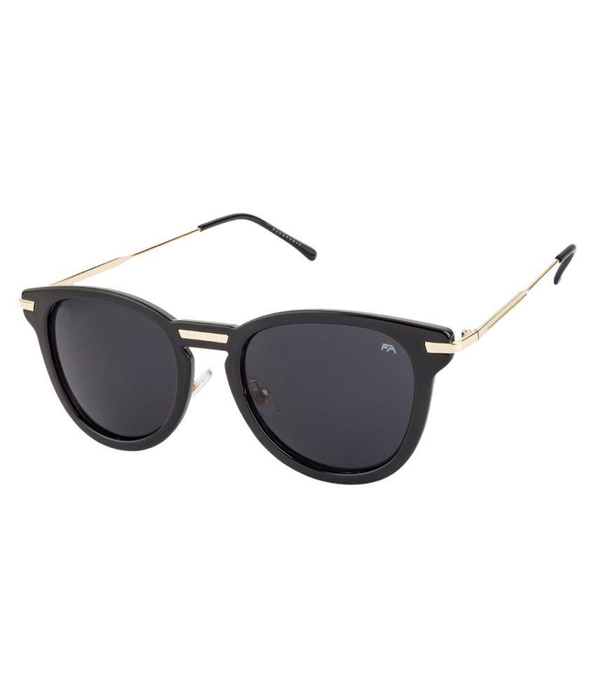 Farenheit Black Cat Eye Sunglasses ( 6680 )