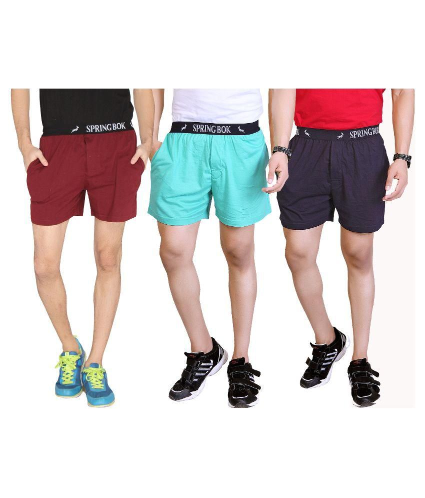 LUCfashion Multi Shorts Pack of 3