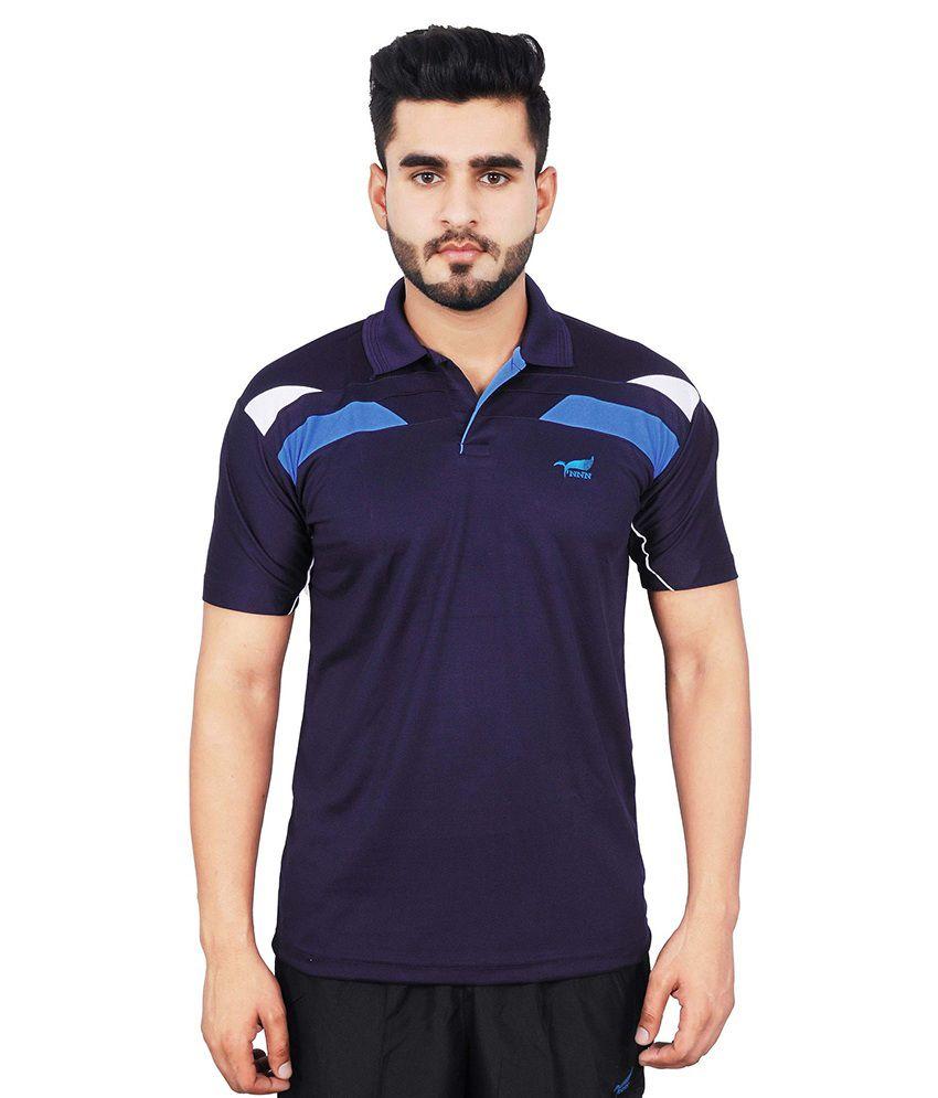 NNN Men's Navy Blue Half Sleeves Dry Fit T-shirt