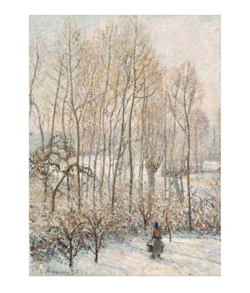 Tallenge Textured Morning Sunlight on the Snow, Eragny-sur-Epte Canvas Art Print