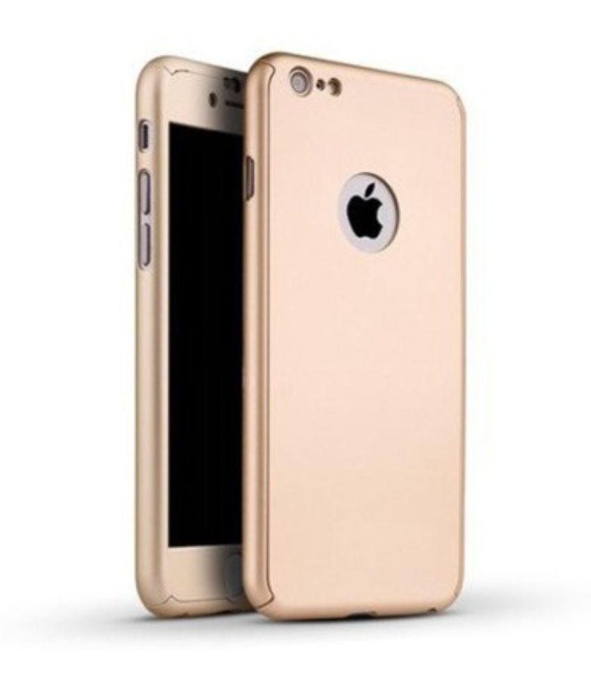 d32ef563ba7ef iPAKY 360 Degree Protective Slim Fit Front And Back Case Cover for Apple  iPhone 6 Plus -Gold With Tempered Glass Screen Protector - Plain Back Covers  Online ...