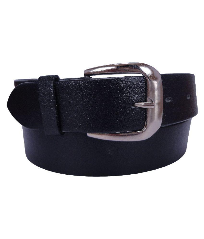 Revo Black Leather Belt for Men