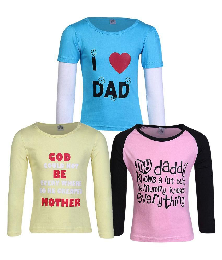 goodway girls Goodway girls attitude theme printed t-shirts (pack of 5)(jg5pckatt-4-6-7y_multicolour_6-7 years): amazonin: clothing & accessories.
