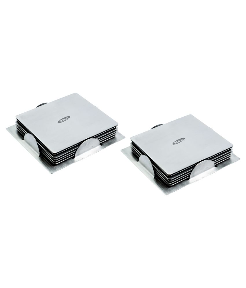 139c844a95f koko Set of 2 Steel Coaster - Buy koko Set of 2 Steel Coaster Online at Low  Price - Snapdeal