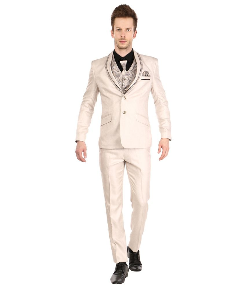 Platinum Studio Off-White Party Suits