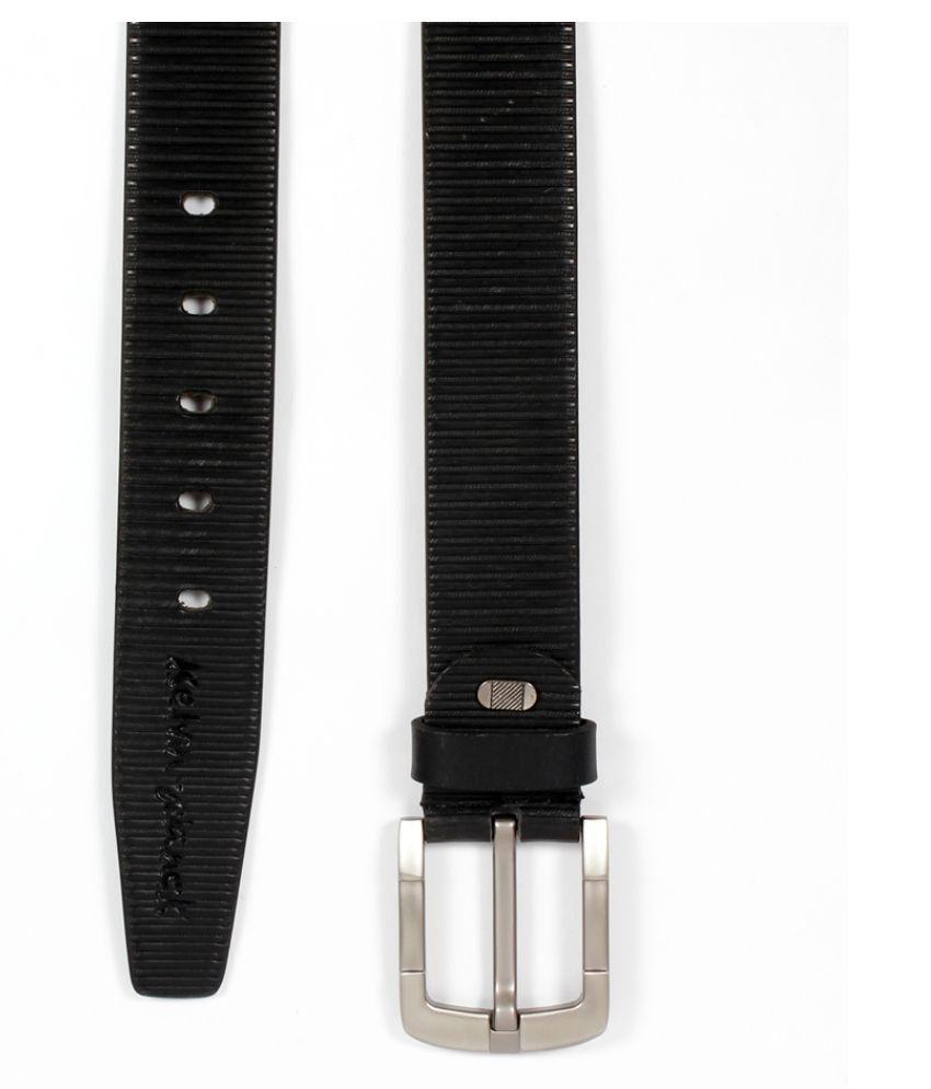 Kelvin Planck Black Leather Belt