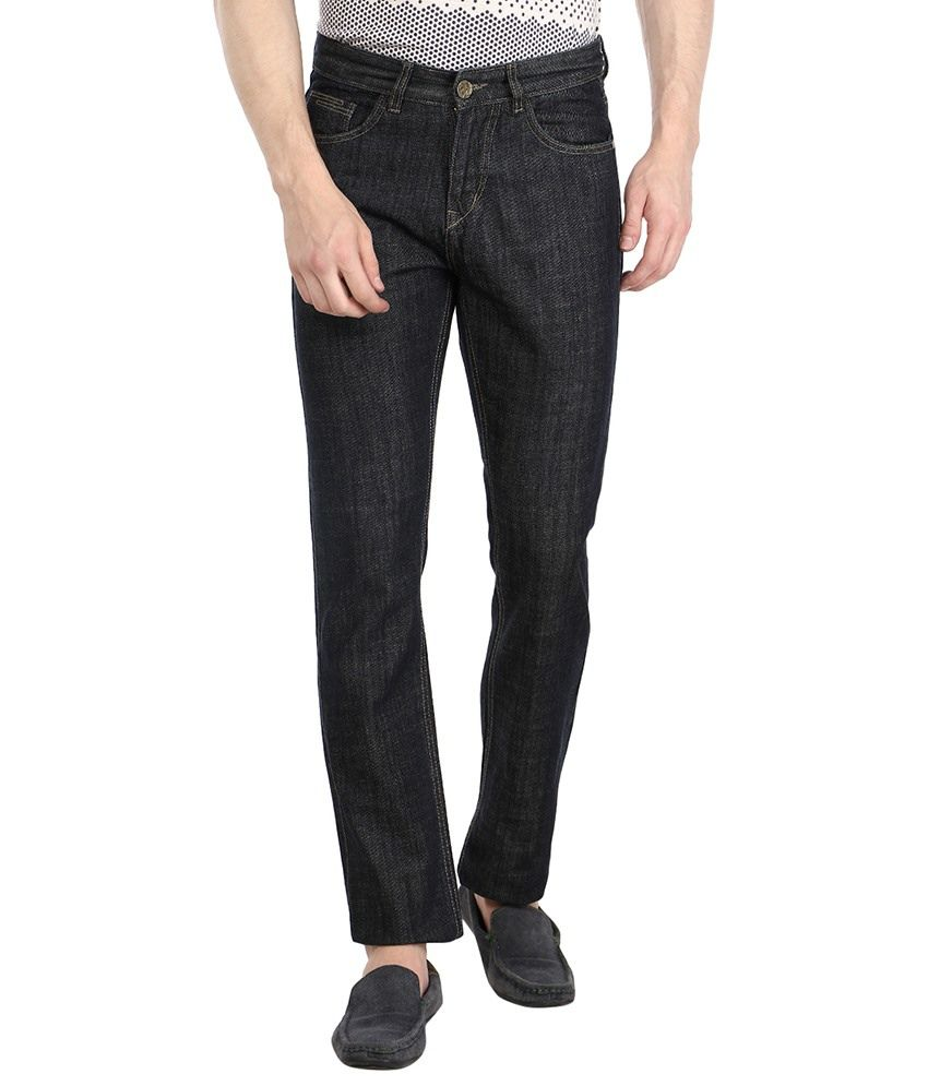 Fever Black Relaxed Solid Jeans