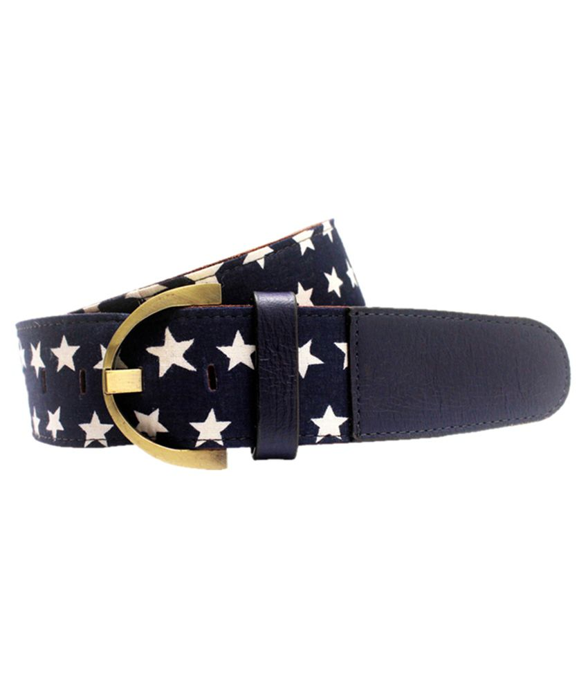 Lapalma Navy Leather Belt for Men