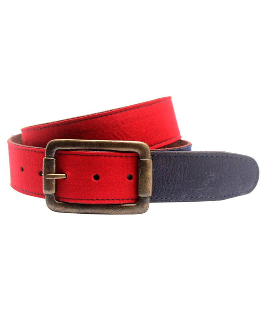 Lapalma Red Leather Belt for Men