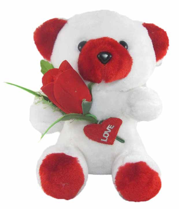 Tickles Teddy bear stuffed love soft toy for boyfriend, girlfriend with Rose 20 cm
