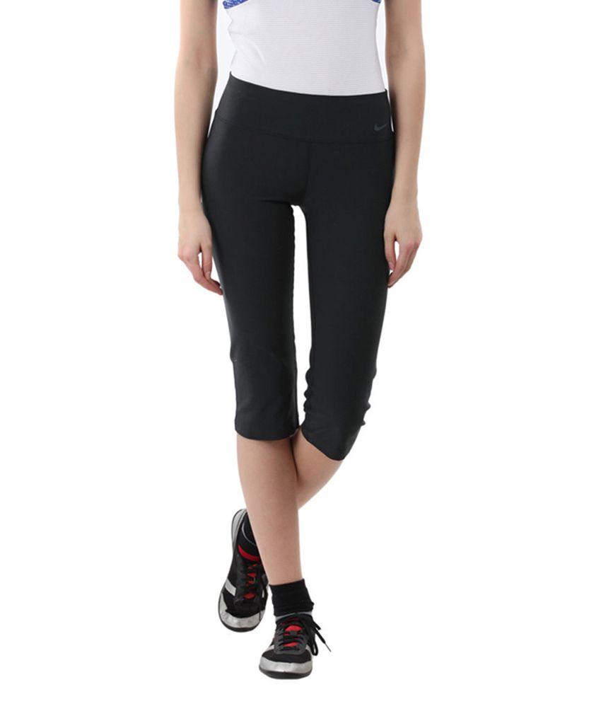 Nike Black AS Legend 2.0 SLM POLY Training Capris for Women