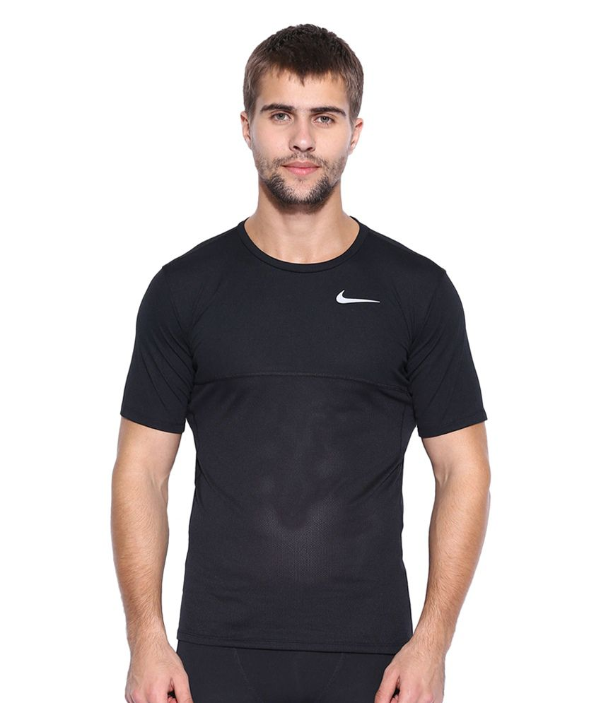 Nike Black AS Racer T-Shirt for Men