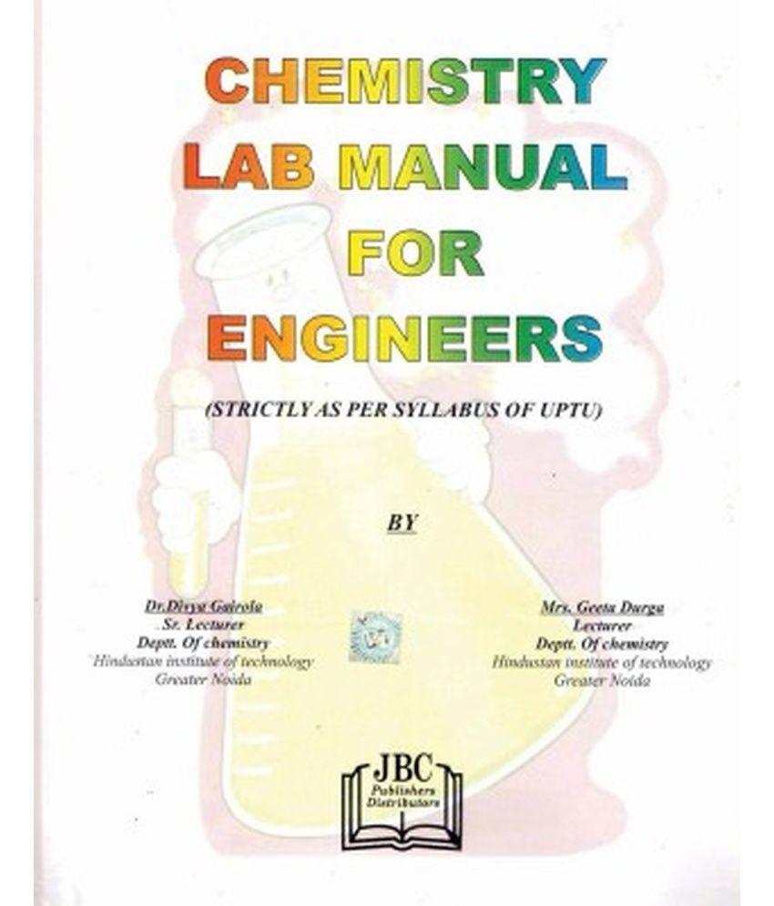 Chemistry Lab Manual for Engineers (UPTU)