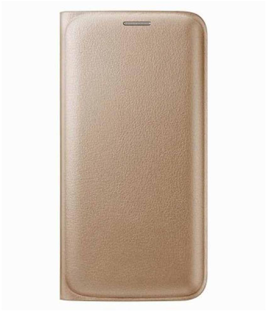 detailed look 58042 06272 LG K7 Flip Cover by Stromax - Golden - Flip Covers Online at Low ...