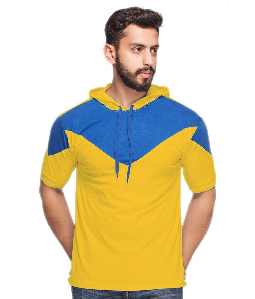 Demokrazy Yellow Hooded T-Shirt