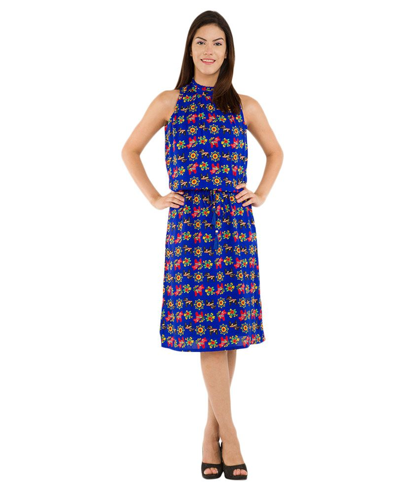 4d604f01c Folklore Navy Chinese Collar Dress - Buy Folklore Navy Chinese Collar Dress  Online at Best Prices in India on Snapdeal