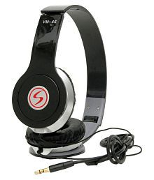 Signature VM-46 Over Ear Wired Headphones Without Mic Black