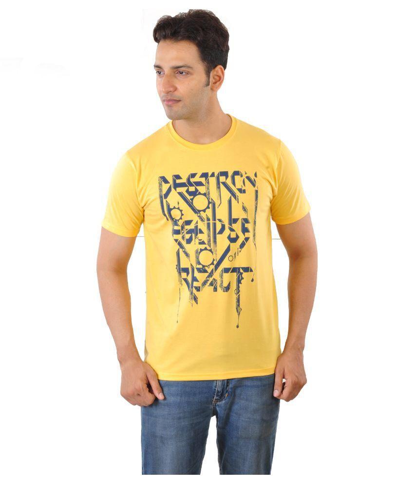 Mabyn Yellow Round T Shirt