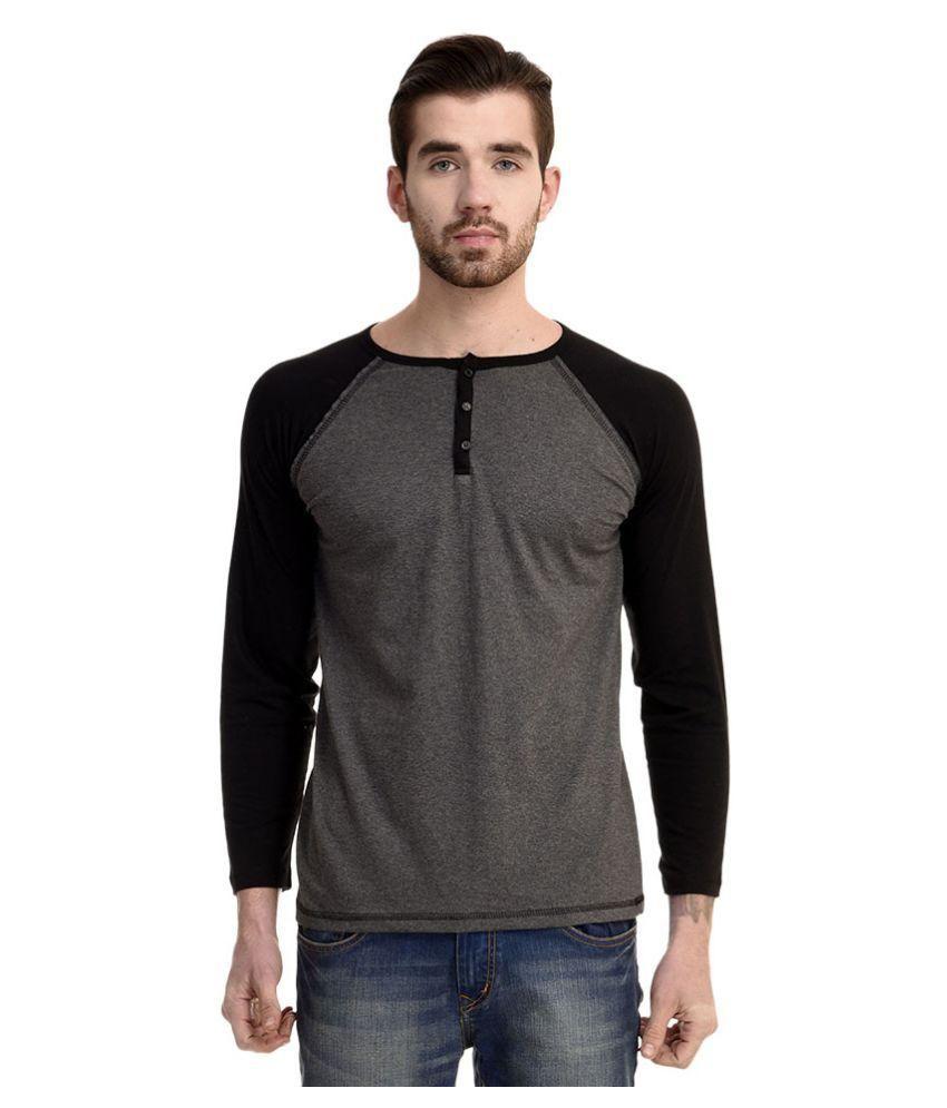 Mimoda Grey Henley T Shirt