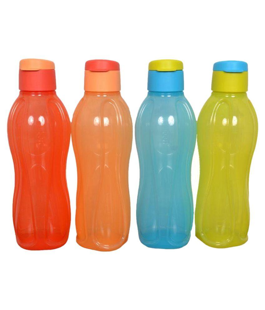 Tupperware Multicolour 1000 Fridge Bottle Set of 4: Buy Online at ...