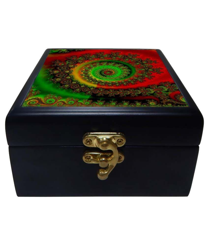 Phototech Multicolour Wooden Jewellery Box