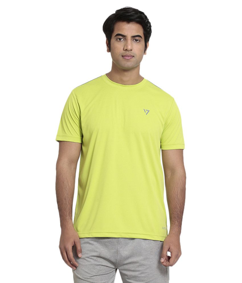 Seven Yellow Polyester T-Shirt