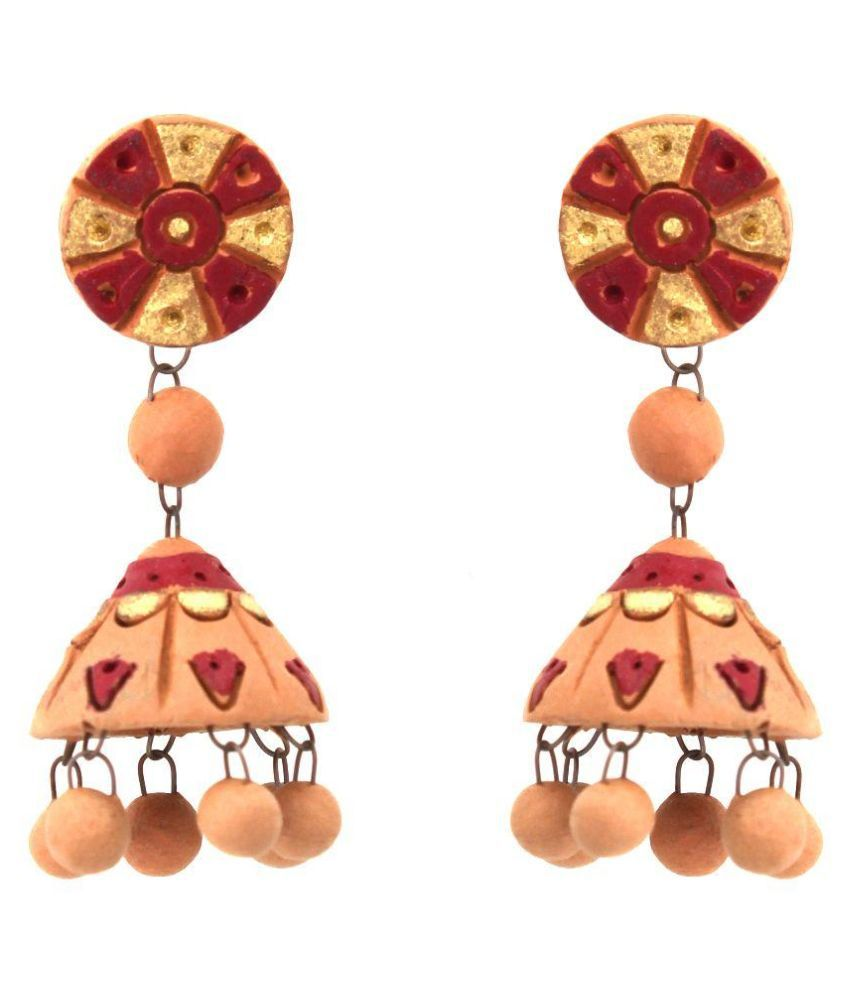 Kaizer Jewellry Multicolour Jhumki Earrings