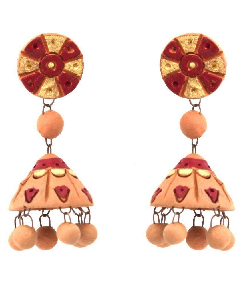 Kaizer Jewellry Multicolour Jhumki Earrings