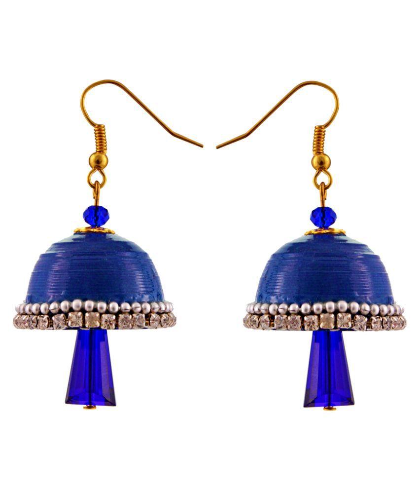 Little Jaipur Blue Jhumkis