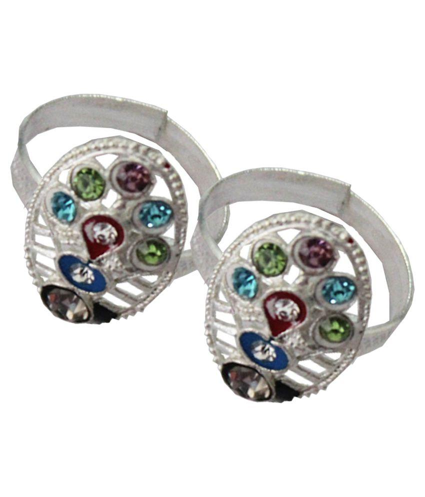 Pihu Silver Pair of Toe-rings