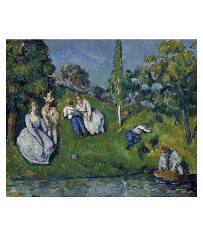 Tallenge Textured - The Pond by Paul Cézanne - Medium Size Canvas Art Print