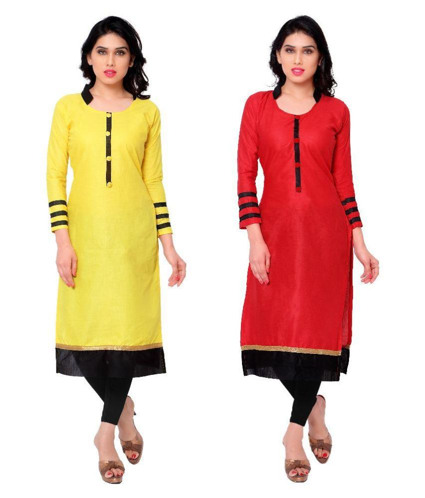 Kachhadiya Multicoloured Cotton Straight Unstitched Dress Material