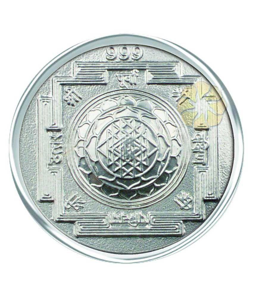 Parshwa Padmavati Gold 0 80 Gm Silver Coins 999 Purity