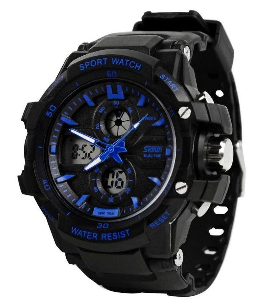 Skmei 0990 blue Plastic Analog Digital Men #039;s Watch