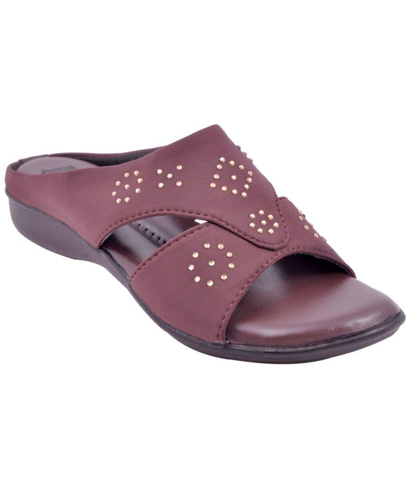 Classy Feet Maroon Wedges Heels