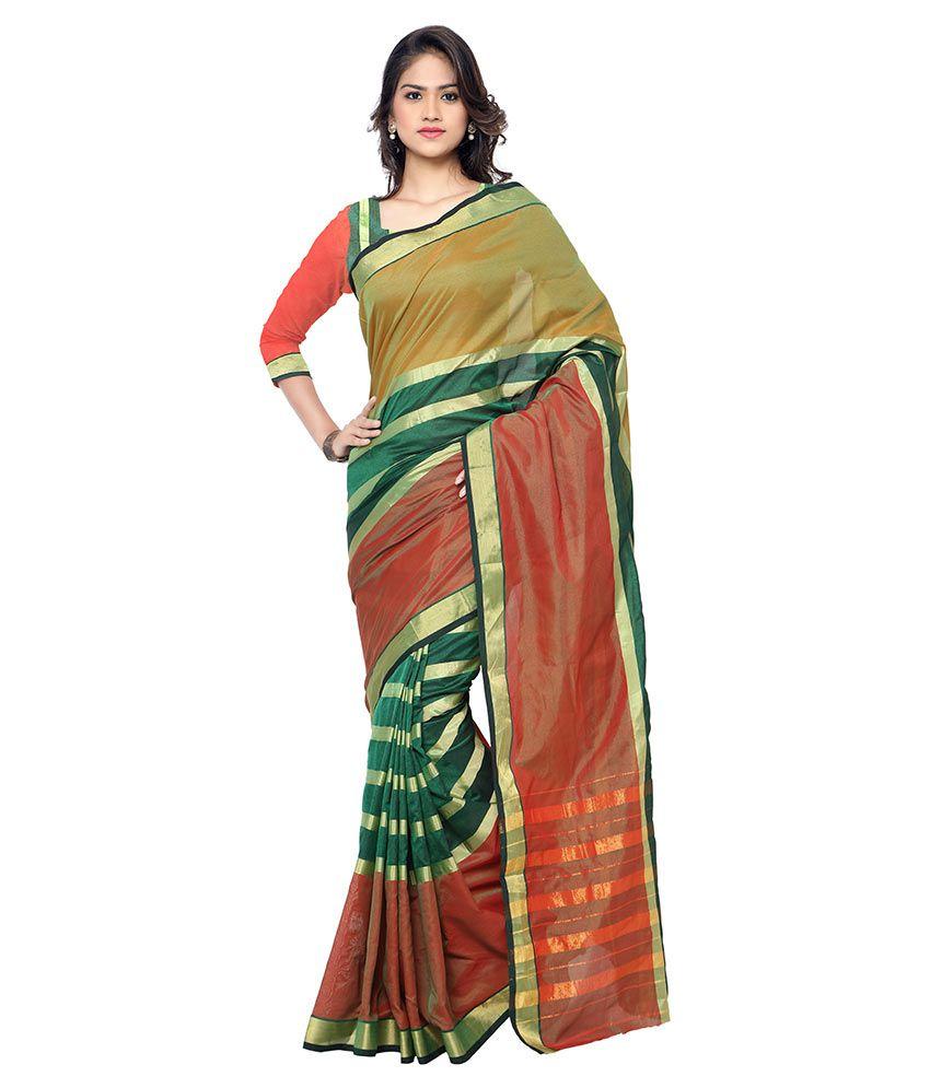 Kajal Sarees Multicoloured Cotton Saree